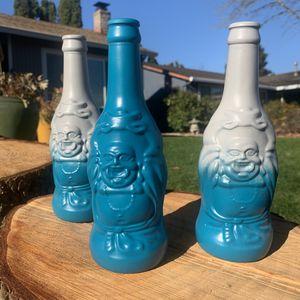 Blue & Grey Lucky Buddha Bottles for Sale in Beaverton, OR