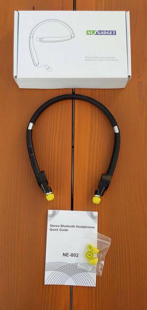 BRAND NEW Foldable Bluetooth Headset Wireless Neckband Headphones mic Sweatproof Auriculares inalámbricos Bluetooth con banda para el cuello plegable for Sale in Rancho Cucamonga, CA