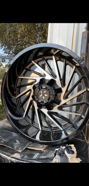 """New 20"""" Off Road Black Rims 5 Lug Universal Wheels Chevy Silverado 1500 Tahoe 20x10 Rines y llantas 2016 Jeep 2017 JK 2015 2016 wrangler 2014 Jku 201 for Sale in Dallas, TX"""