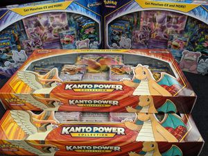 Lot of 4: Kanto Power Collection Boxes Dragonite/Pidgeot & Mewtwo/Slowbro for Sale in Fort Lauderdale, FL