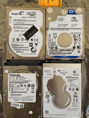 """Laptop 2.5"""" 1TB hard drives HDDs Toshiba Seagate WD HGST for Sale in Buffalo Grove, IL"""