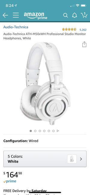 Used-like new ATH-M50xWH for Sale in Los Angeles, CA