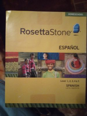 Rosetta Stone Spanish levels 1-5 for Sale in Metairie, LA