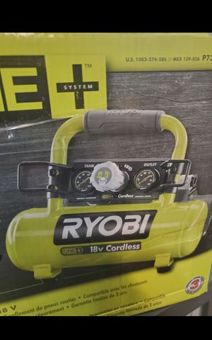 RYOBI 18V CORDLESS AIR COMPRESOR TOOL ONLY BRAND NEW for Sale in San Bernardino, CA