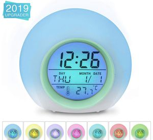 Alarm Clock,Kids Alarm Clock,7 Colors Changing Light Digital Clock for Boys and Girls ,with Indoor Temperature Calendar, Alarm Clock for Bedrooms, Wa for Sale in Plainfield, NJ