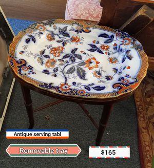 Antique Turkey serving table for Sale in Garner, NC