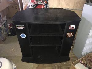 Black TV Stand gaming console with media shelves for Sale in Hialeah, FL