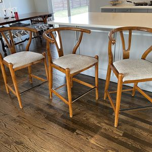 Counter Chairs (Bar Stools) Midcentury Wishbone Style for Sale in Countryside, IL