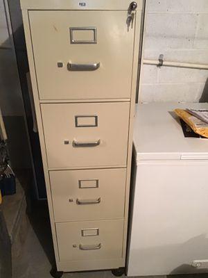 HON 4 Drawer Metal File Cabinet w/Key - Wheeled Platform for Sale in Houston, PA