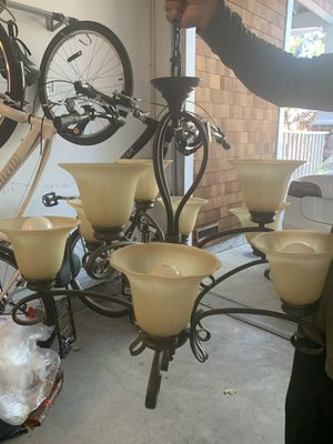 Beautiful 9 bulb light fixture chandelier! for Sale in San Jose, CA