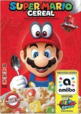 Super Mario Cereal amiibo Sealed Box & Bag - Super Mario Odyssey for Sale in Pompano Beach, FL