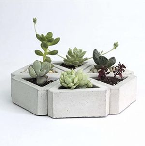 Six small triangle succulent pots (no plants) for Sale in Collingswood, NJ