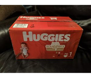 Huggies Little Snugglers Baby Diapers, Size 1, 76 Count for Sale in Las Vegas, NV