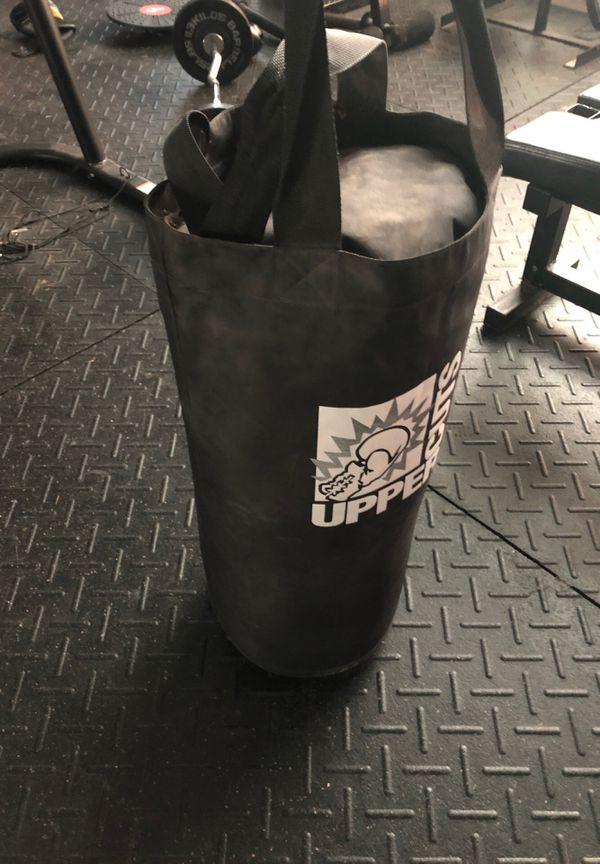 Upper cuts punching bag