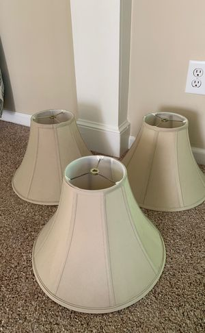 3 beige lamp shades for Sale in Charlotte, NC