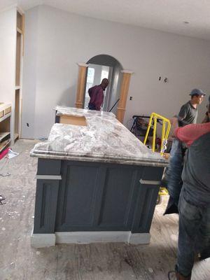 Granite countertop 3cm $49.00 square foot installation includes for Sale in Houston, TX