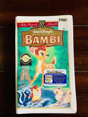 Walt Disney's Masterpiece Bambi VHS Movie for Sale in Riverside, CA