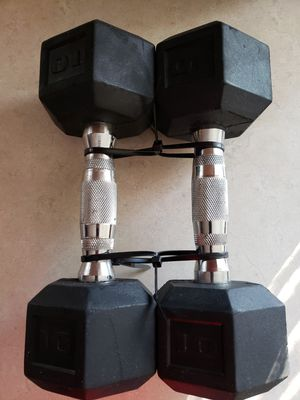 Pair of 10 Lb. Hex Dumbbells Exc Cond for Sale in Portland, OR