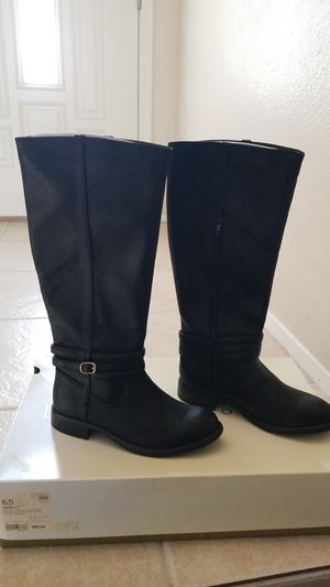 LAUREN CONRAD KEIR RIDING BOOTS BLACK 6.5 WOMENS NEW for Sale in Spring Valley, CA