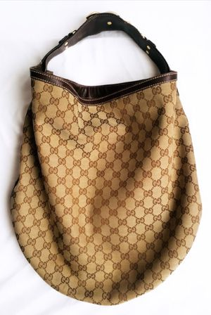 Gucci Brown Leather Shoulder Hobo Bag for Sale in Apple Valley, CA