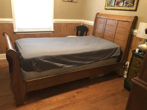Solid Oak Twin Size Bed for Sale in Franklin, VA