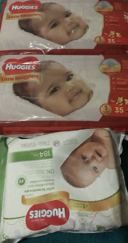 Huggies pampers and wipes