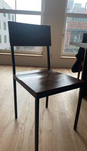 Two Wood and Iron chairs for Sale in Jersey City, NJ