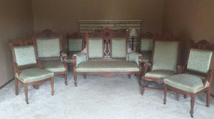 Antique 7 piece settee for Sale in Dubuque, IA