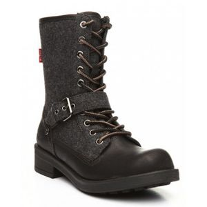 Levi's Woman's Grey Black Combat Boots for Sale in Dallas, TX