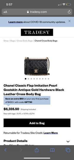 CHANEL BAG BAG AND RECIPT for Sale in Washington,  DC