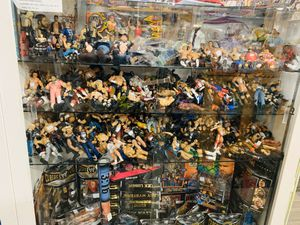 WWF WWE Wrestling Figures lots of new figures. Bobbleheads, pops, sports items, Disney pins, championship rings for Sale in Phoenix, AZ