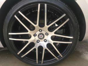 "SEVIZIA 20"" rims with low profile tires for Sale in Las Vegas, NV"