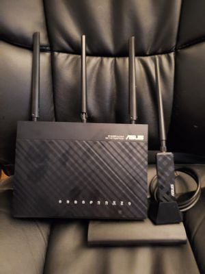 ASUS AC68 WIFI Router and AC56 USB Adapter for Sale in Selma, CA
