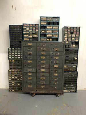 Great Tool Box Parts Organizers Lot Nuts and Bolts Industrial Factory Workshop for Sale in Rockville, MD