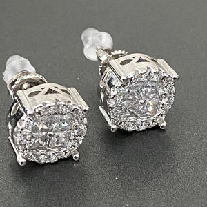 Icedout Earrings 925silver screwback for Sale in Los Angeles, CA
