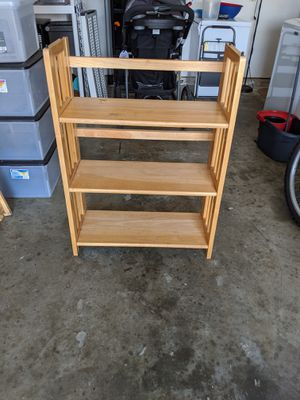 Wooden foldable and stackable bookshelves for Sale in Virginia Beach, VA