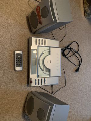 CD player with speakers and remote for Sale in Whitehouse, TX