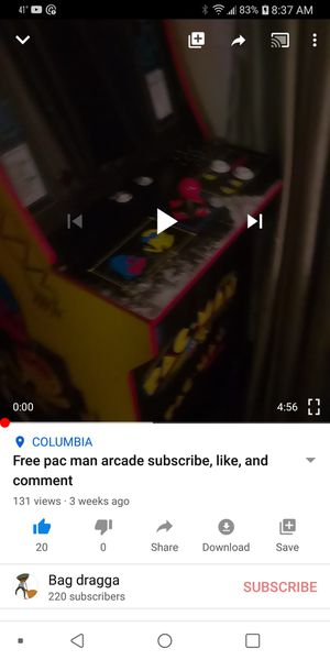 Free pacman just subscribe on YouTube for Sale in Columbia, SC