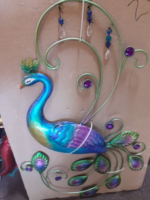 Colorful metal embellished peacock wall art for Sale in Dunedin, FL