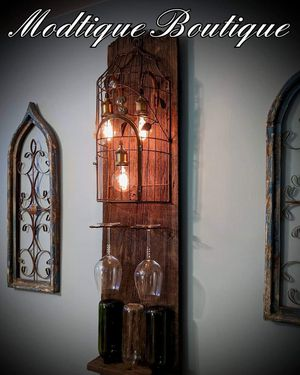 Wine holder/ wall lamp for Sale in Pittsburgh, PA