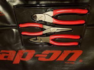 snap-on 3pc pliers set brand new !ask $119 for Sale in Ontario, CA