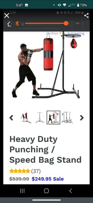 Everlast punching bag with stand for Sale in Greenwood, IN