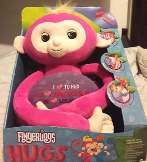 Fingerlings Hugs-Bella-Interactive Plush Monkey NEW for Sale in Metairie, LA