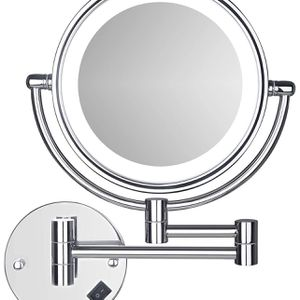 Wall Mounted LED Makeup Mirror, SanaWell 3X Lighted Magnification Mirror with 8 Inch Double Sided 360° Swivel Vanity Mirror for Bathroom, Chrome Finis for Sale in Colonial Heights, VA