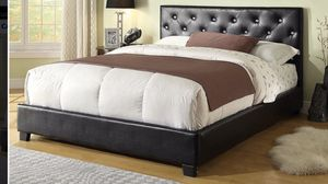 Queen size bed frame with mattress included 350$ only delivery available for Sale in Elmwood Park, IL