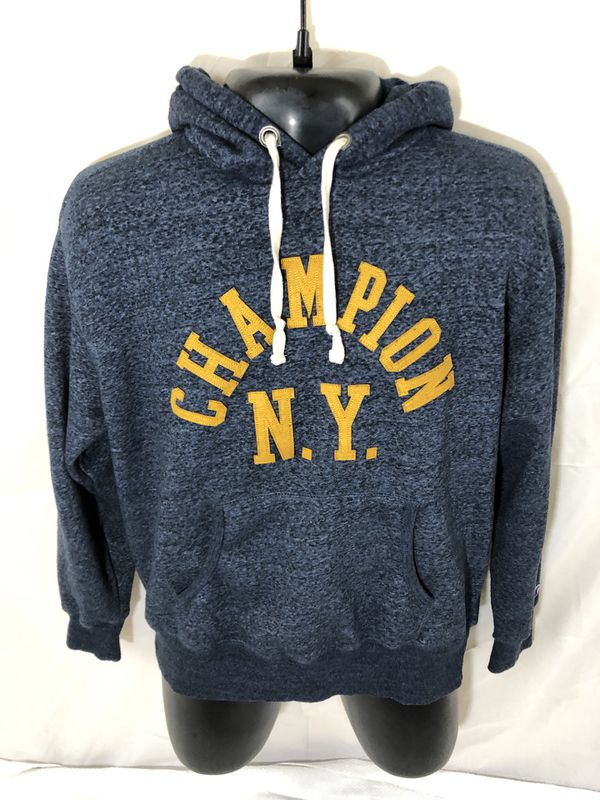Men's Champion NY Hoodie Sweater X Large