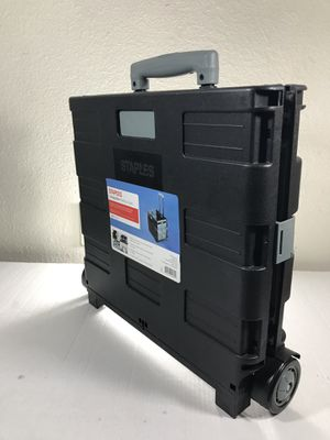 Collapsible rolling crate (Firm price $25) for Sale in Houston, TX