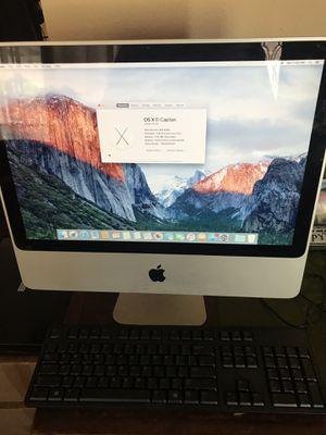 """Apple iMac 20"""" imac a1224 intel core 2 duo 2.26 ghz 320gb hard disk hdd 3gb ram ddr3 wifi bluetooth camera new copy of Mac OS El Capitan,Dell keyboa for Sale in Los Angeles, CA"""