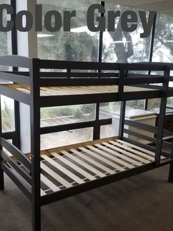 Twin bunk beds. 3 colors to choose from. Bunk beds come in a box. Assembly not included in price. Price includes tax and delivery. Cash only. Colo for Sale in Carson,  CA