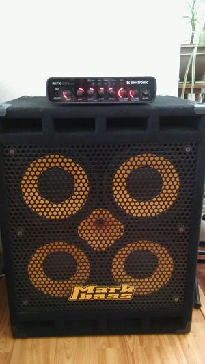 Bass guitar gear TC ELECTRONIC RH750/MARKBASS STD 104hf-4 cab for Sale in San Diego, CA